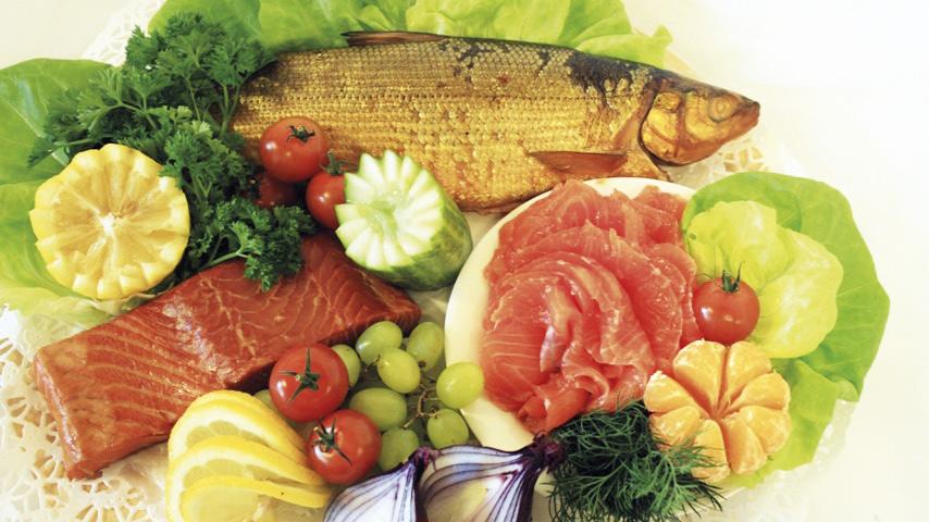 Kalaliike Asp, tuoretta, savustettua ja graavisuolattua kalaa