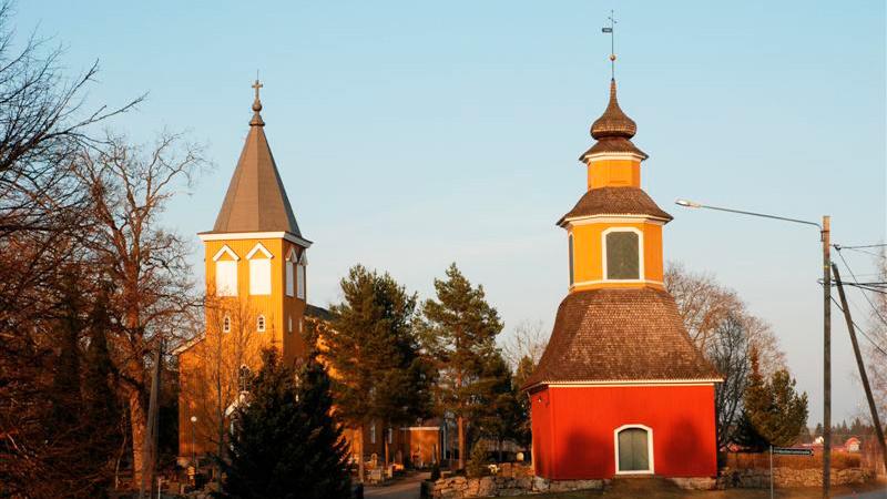 Kiikalan kirkko ja kellotapuli