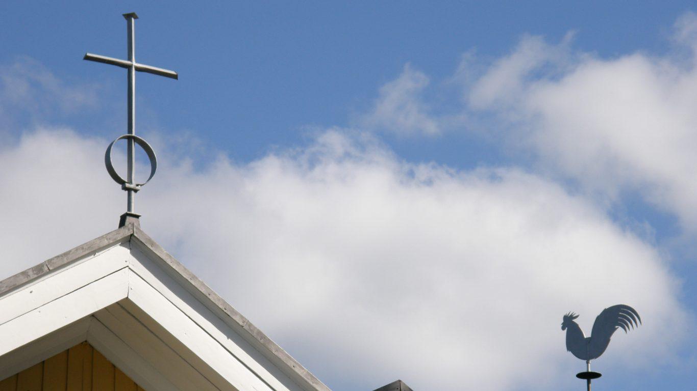 Kuusjoen kirkon kukkoviiri