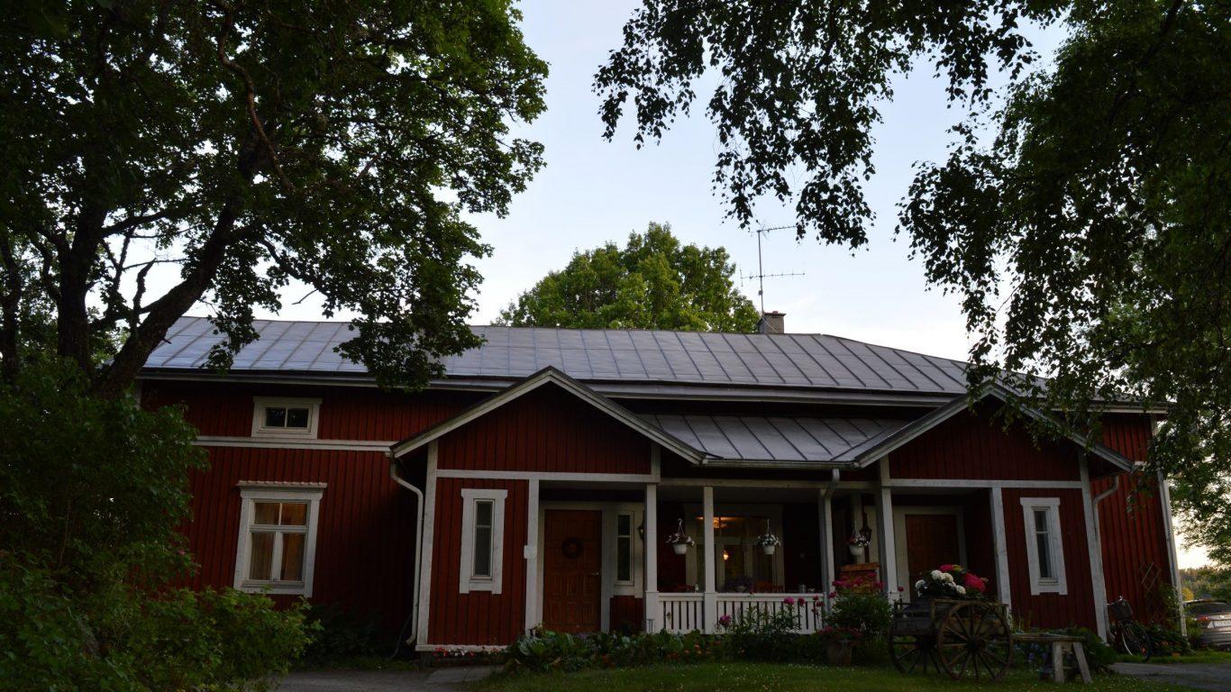 Leipyölin tilan päärakennus on siirretty nykyiselle paikalleen 1700-luvulla.