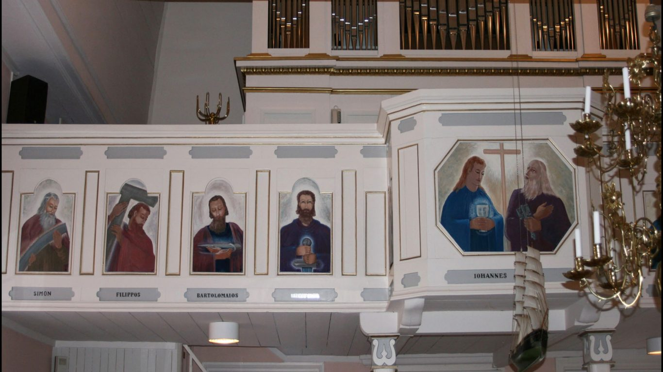 Särkisalon kirkon urkuparvi