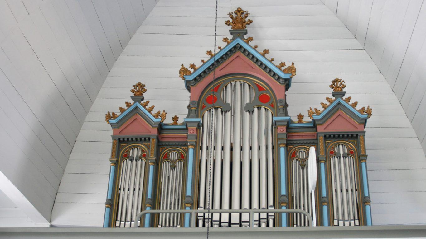 Suomusjärven kirkon urkuparvi