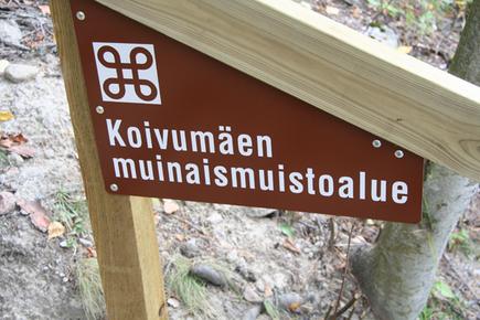 Koivumäen muinaismuistoalue opasviitta