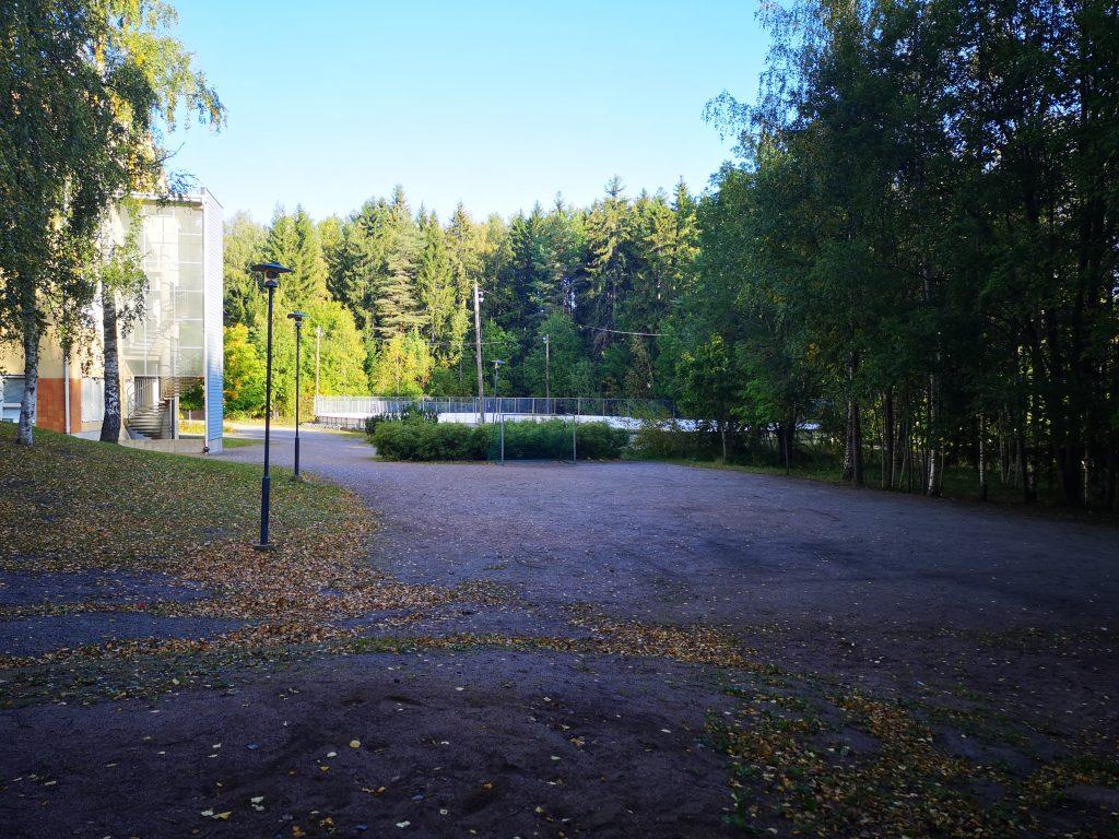 Halikon Mustamäen kaukalo kuvattuna syksyllä