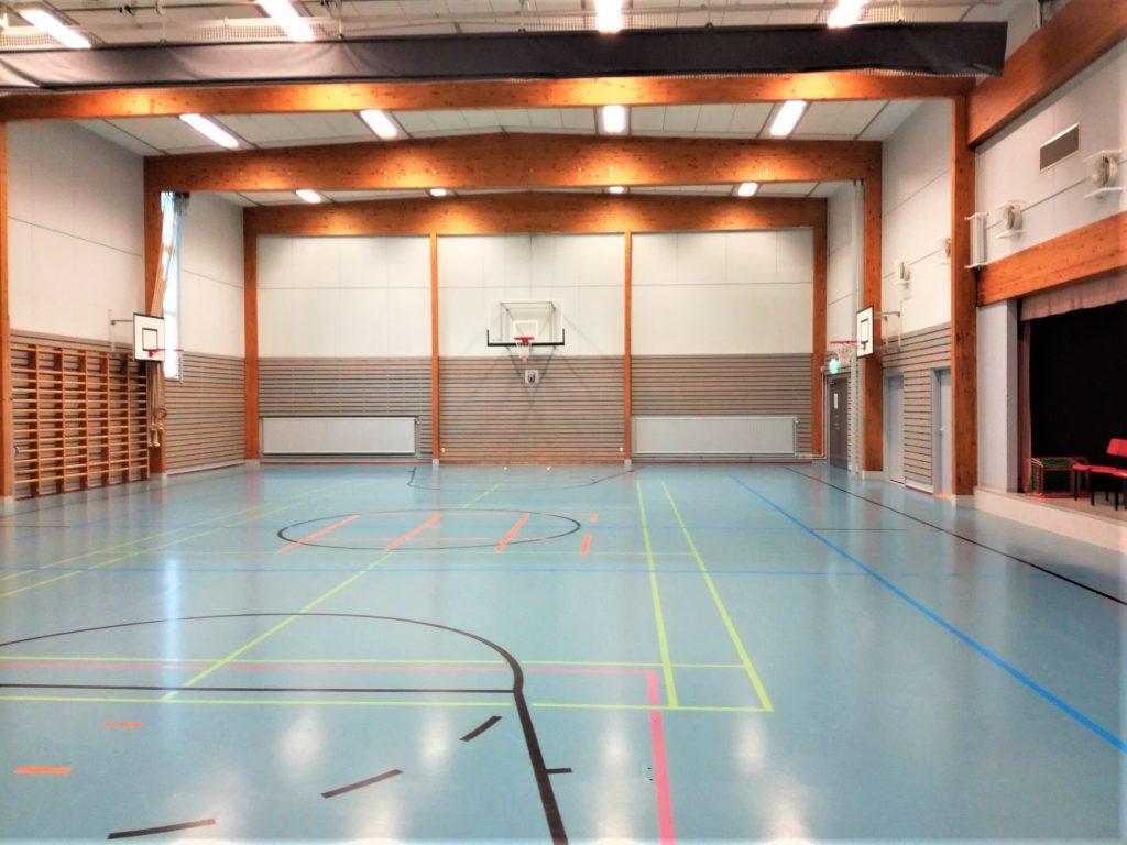 Uskelan koulun Anjalankadun liikuntasali