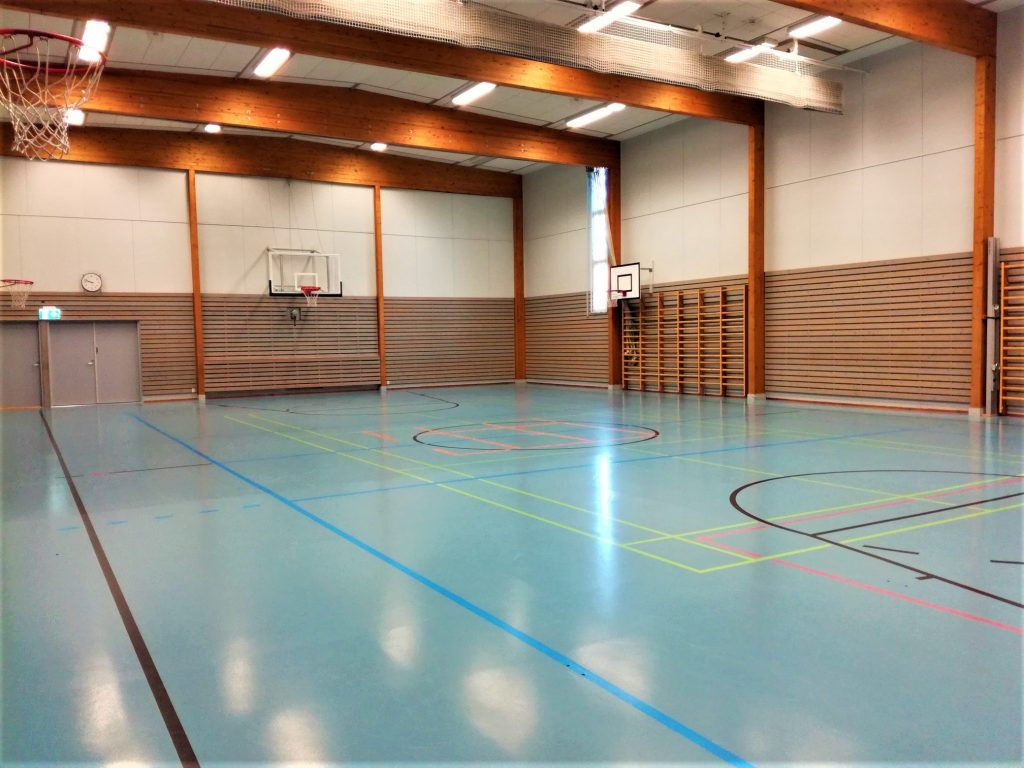 Kuva Uskelan koulun Anjalankadun yksikön liikuntasalista