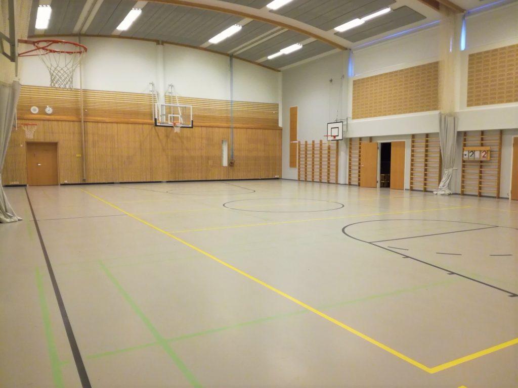 Suomusjärven koulun liikuntasalista kuva