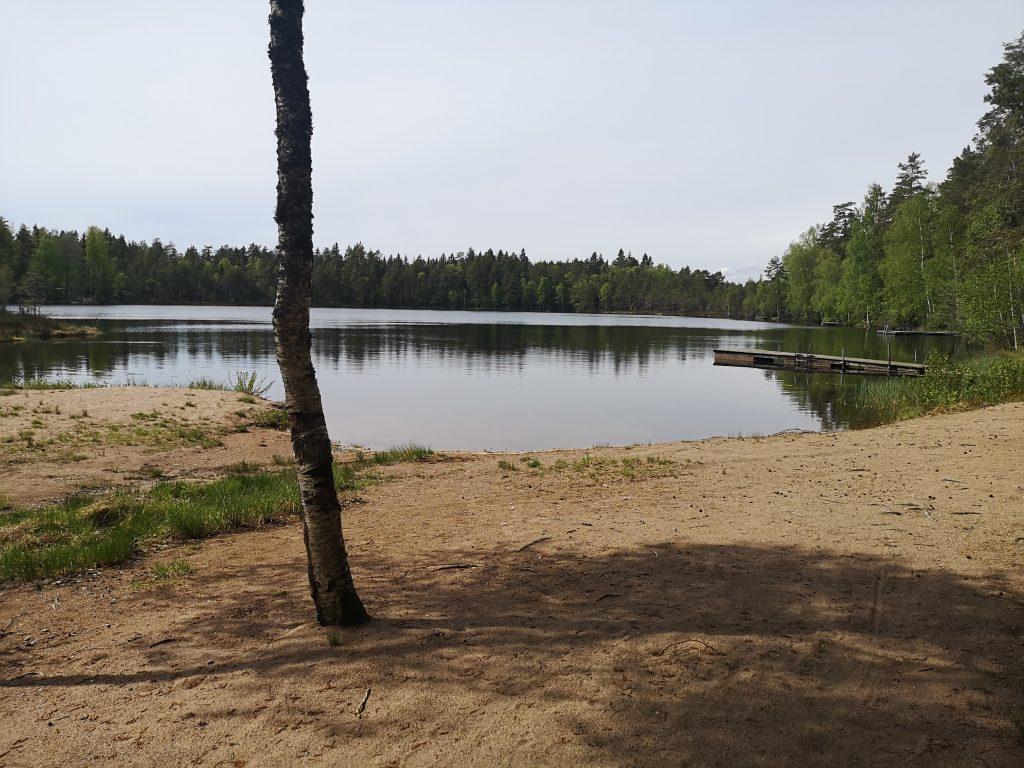 Vähäjärven uimapaikalla