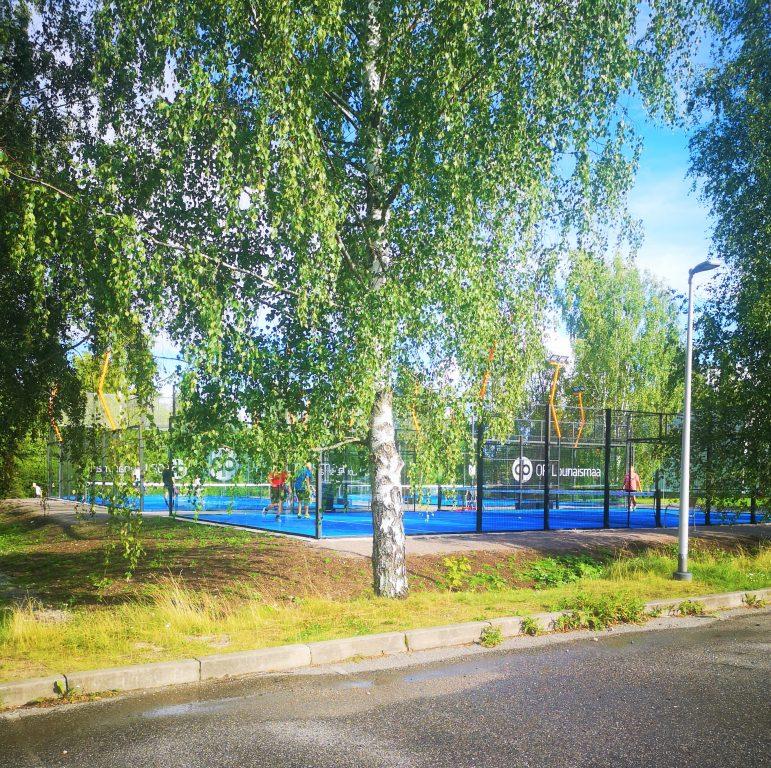 Padel Salon kenttä Urheilupuistossa